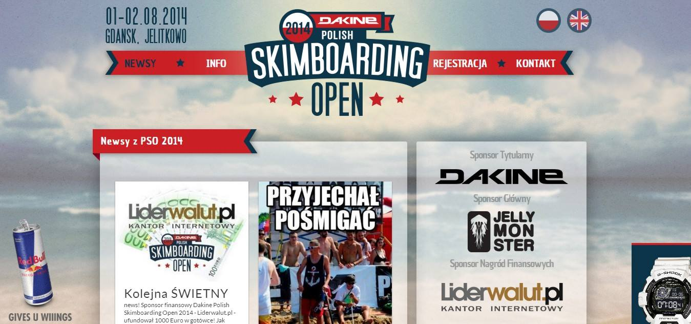 Liderwalut.pl sponsorem Polish Skimboarding Open